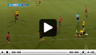 Video: NEC via discutabele goal Janga naast VVV-Venlo