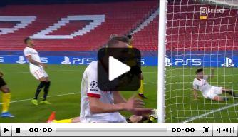 Video: De Jong geeft Sevilla met doelpunt nog enige hoop