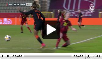 Video: Miedema schiet Leeuwinnen op voorsprong tegen België