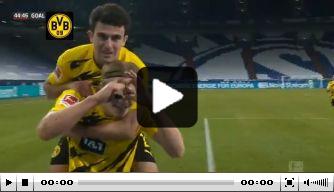 Video: Haaland pakt opnieuw hoofdrol met prachtgoal bij Schalke