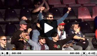 Schitterend! NEC-fans gaan los voorafgaand aan wedstrijd
