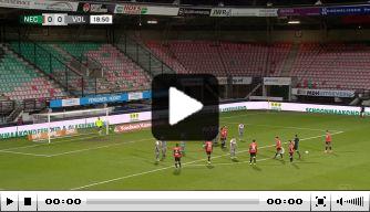 Tavsan krult vrije trap in de kruising tegen FC Volendam