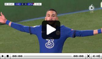 Video: Ziyech schiet Chelsea op voorsprong tegen Atlético