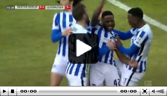 Video: Zeefuik doet Bosz pijn met heerlijke eerste Hertha-goal