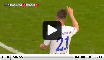 Video: Huntelaar ziet zijn eerste Schalke-goal afgekeurd worden