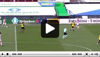 Video: Neres bezorgt Ajax de KNVB Beker met late goal