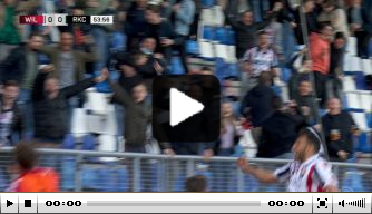 Video: Willem II-fans uit hun dak na openingsdoelpunt