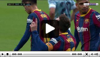 Video: Messi kopt dertigste binnen na heerlijke pass Busquets