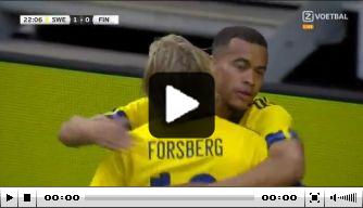 Video: Zweden verslaat EK-debutant Finland met fraaie goal
