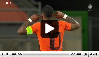 Video: Memphis redt gelijkspel voor Oranje met vrije trap