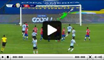 Video: Messi schiet vrije trap heerlijk tegen de touwen