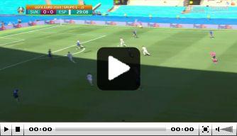 Video: Slowakije-keeper Dúbravka slaat de bal in eigen doel