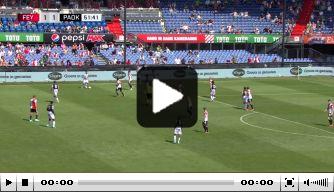 Oei: giga-blunder nieuwe doelman Feyenoord tegen PAOK