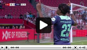 Man in vorm: Madueke maakt geweldige vroege goal tegen Ajax