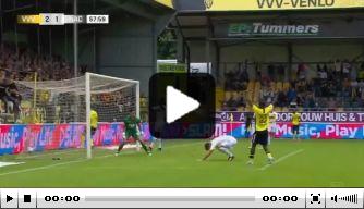 Video: bizar eigen doelpunt van NAC Breda-verdediger Rösler