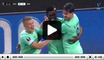 Video: Sangaré schiet PSV knap op voorsprong in Oostenrijk