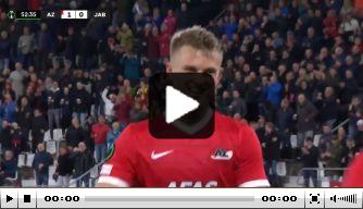 Video: Gudmundsson belangrijk bij AZ uit heerlijke teamaanval