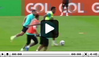 Video: Ajax-aanvaller Antony laat zich zien op training van Brazilië