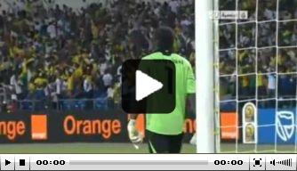 Video: Gabon in blessuretijd langs Marokko
