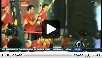 Video: kampioen Spanje gehuldigd in Madrid