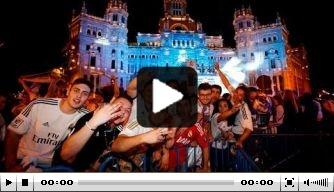 Video: Real-spelers vieren 's ochtends feest op Cibeles
