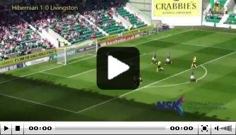 Video: Hibernian-doelman scoort met uittrap