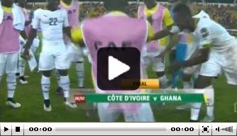 Video: Ghana viert finaleplek op merkwaardige wijze