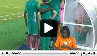 Video: Gervinho durft niet te kijken naar penaltyserie