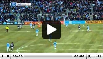 Video: Villa maakt eerste goal voor New York City