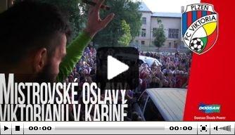 Video: Viktoria Plzen-spelers vieren kampioenschap