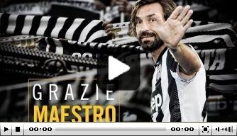 Video v/d dag: Juventus dankt Pirlo op geweldige wijze